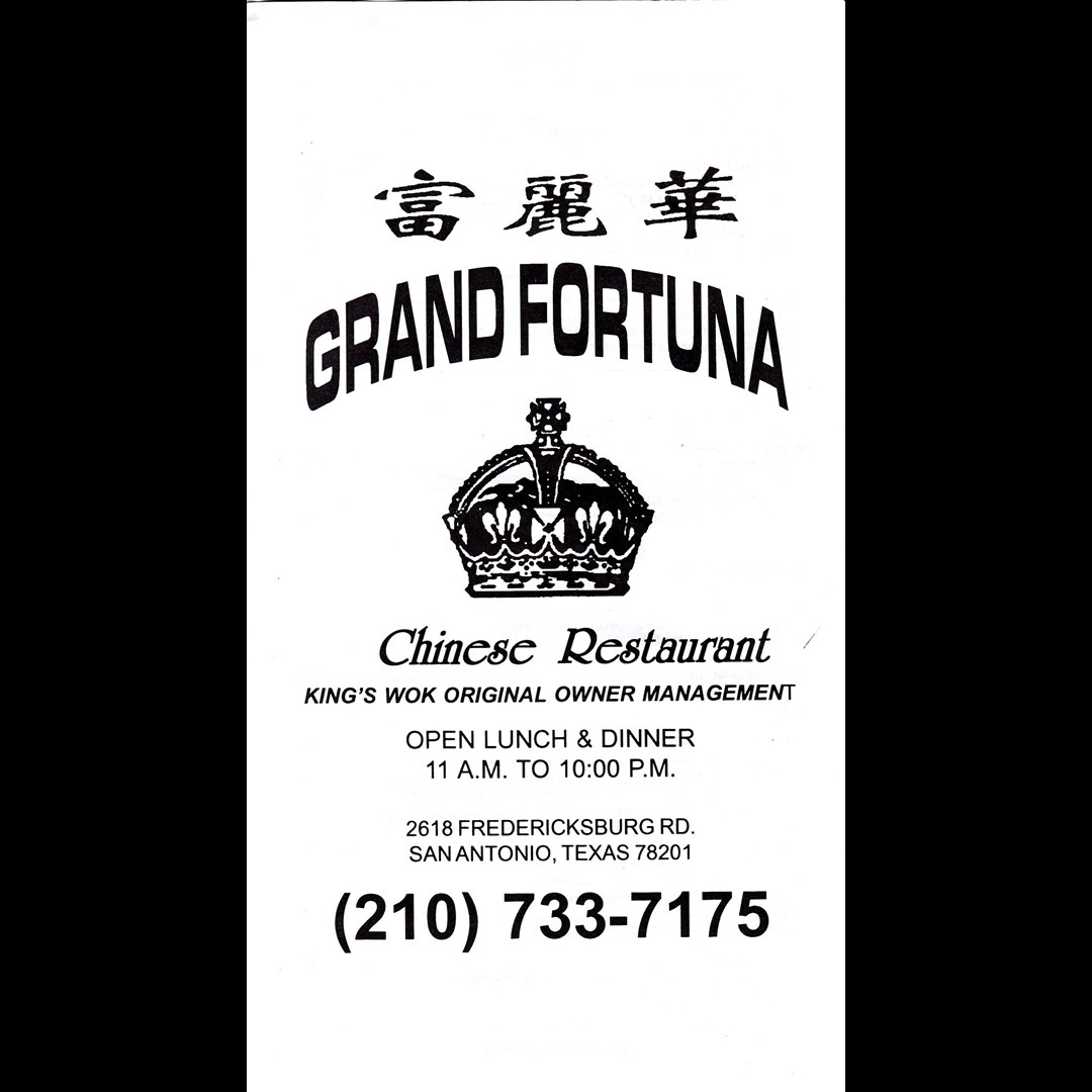 Grand Fortuna Chinese Restaurant In San Antonio Tx